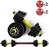 LAMTON Ajustable Combinación de Mancuernas Set Group Barra es Desmontable, usada for el músculo del Brazo Ejercicio físico Entrenamiento Equipo for Deportes 30 kg Levantamiento de Pesas