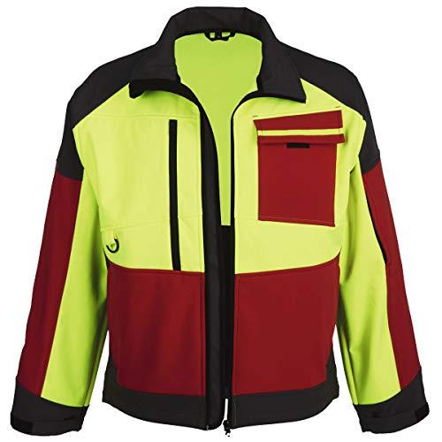 Watex Cazadora forestal (tejido Softshell, talla S hasta 4XL), color rojo Amarillo luminoso/rojo/gris. M
