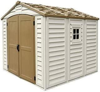 Duramax 30114 Duraplus Outdoor Storage Shed, Offwhite/Brown