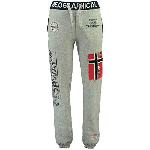 Geographical Norway MYER Men - Jogger Deportivos Estilo Casual - Pantalon Ajustados Deportiva Comodo Calidad - Chándal Casual Hombre Algodón Poliéster (Gris S)