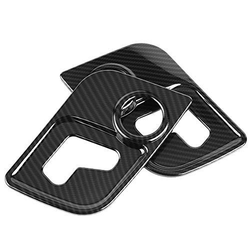 2 pegatinas de cubierta de marco de ajuste de estilo de fibra de carbono para Ma-serati Le-vante 17-18