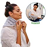 Heating Pad Solutions - Lavender Microwavable Buddy - Natural Heating Pad for Cramps, Arthritis, Joints Pain, Soring Muscles & Aching Feet with Soothing Lavender Aroma for Stress and Tension Relief