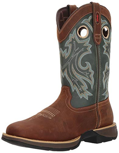 Durango Men's Rebel Pull-On Western Boot Mid Calf, Saddlehorn and Clover, 8 M US