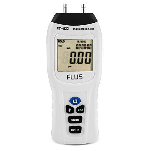 Manometer, Digital Air Pressure Meter and Differential Pressure Gauge HVAC Gas Pressure Tester