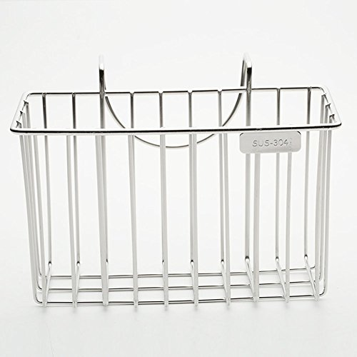Zehui Kitchen Sponge Holder, Sink Caddy Brush Soap Dishwashing Liquid Drainer Rack - 304 Stainless Steel Silver