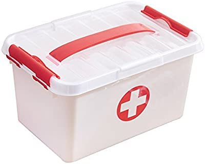 Koyet Double Layer Family Medicine Cabinets First Aid Kit Plastic Storage Pill Cases Household First Aid Kit Multifunctional Medicine Box Storage Boxes Organizer