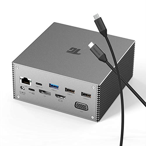 EZQuest USB-C Multimedia Hub Adapter 8 Ports HDMI 4K 30Hz, 100W USB-C PD 3.0, Gigabit Ethernet, 3X USB 3.0, SD /& Micro SD