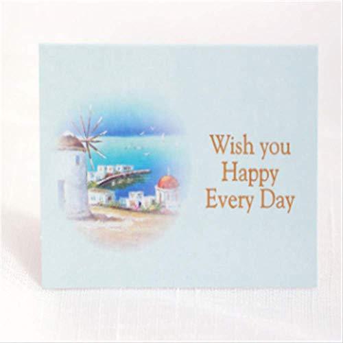 Wenskaarten BLTLYX Nieuwe Creatieve Verjaardag Groet Bedankt Kaarten Voor Vrienden Feest Moederdag Bruiloft Hot Koop 9x6.5cm Lavendel