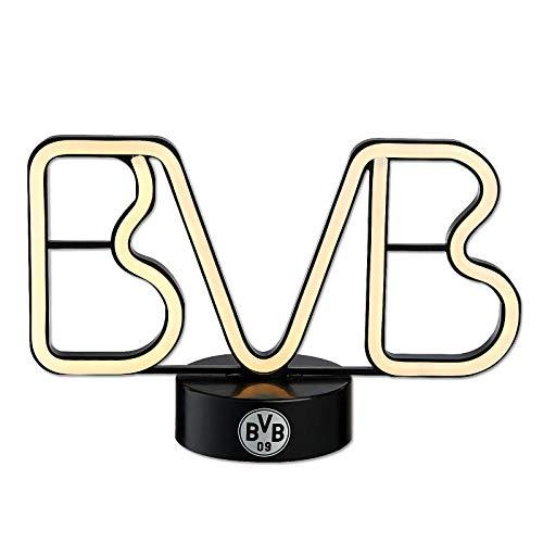 Borussia Dortmund Unisex Bvb-led Dekoleuchte Dekoration, schwarz, Einheitsgröße EU
