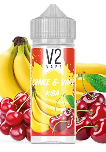 V2 Vape Kirsch-Banane Shake and Vape hochdosiertes Premium Aroma-Konzentrat zum selber mischen mit Base. Zum direkt dampfen ? ohne Reifezeit 20ml 0mg nikotinfrei