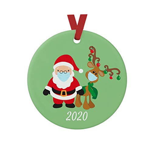 2020 Santa Claus Souvenir Tree Hanging DIY Ornaments Friends Present Creative Decorating Kit Customized Mini Ornament for Xmas