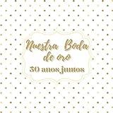 Libro de firmas boda de oro: para los recuerdos invitados, aniversario boda de oro 50 años casados, Regalo o detalle para aniversario pareja. Español