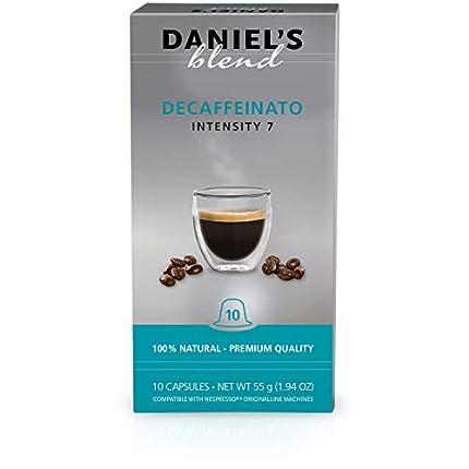 Daniel's Blend Cápsulas de café compatibles con máquinas Nespresso Descafeinado (100 Cápsulas)