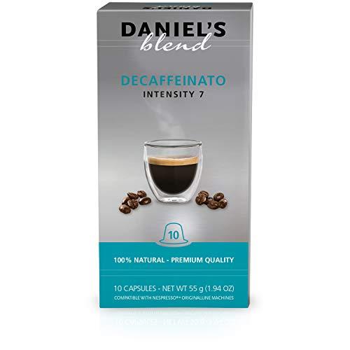 Daniel's Blend Kaffeekapseln kompatibel mit Nespresso-Maschinen Koffeinfrei (100 Kapseln)