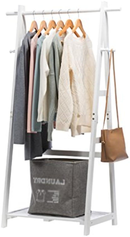 Life Holz Kleiderstnder, Schlafzimmer Multifunktions Kleiderbügel Lagerregal Retro Coat Rack Breite (Farbe   Wei, gre   45  80  149cm)