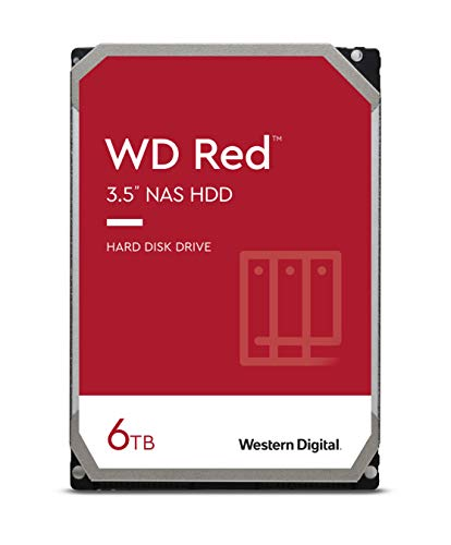 "WD Red 6TB NAS 3.5"" Interne Festplatte - 5400 RPM Class, SATA 6 Gb/s, SMR, 256MB Cache"