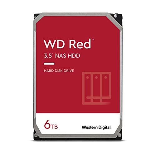 WD WDBMMA0060HNC-ERSN Hard Disk per NAS, Intellipower, SATA 6 GB/s, 64 MB Cache, 3.5