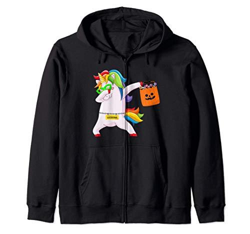 Unicornio Disfraz Gracioso Fiesta Halloween Dabbing Unicorn Sudadera con Capucha
