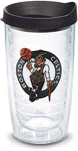 Tervis NBA Boston Celtics Primary Logo Tumbler with Emblem and Black Lid 16oz, Clear