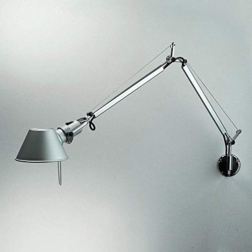 Gossttui Lámpara de linterna de pared de aluminio de brazo largo ajustable Simplicidad moderna Lámpara de pared LED de brazo flexible Aplique cálido Dormitorio Columpio de cabecera Focos Iluminación p