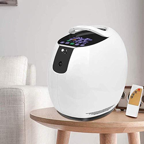 4YANG Sauerstoff Konzentrator, 1-7 l/min 93% hochrein Tragbarer Sauerstoffkonzentrator-Generator mit drahtloser Steuerung Sauerstoffmaschine für die Heimreise mit dem Auto