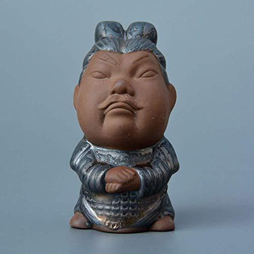 BMYLSYX Kamelien Tee Schmuck Tourismus Produkte Qin Shi Huang Terrakotta Krieger Und Pferde Serie Alten Zeichen Tee Theater Keramik Kunst Dekorationen C5.7 * 6.5 * 10.3Cm,C,1