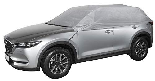 Walser 31018 Autoabdeckung Halbgarage Größe XL hellgrau, wasserdichte Halbgarage, Staubdicht mit UV Schutz