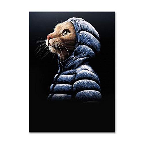 Wandkunst Leinwand drucken HD Bild Malerei niedlichen Katze Boxer Home Decor Modular Nordic Style Poster Wohnzimmer Rahmenlos