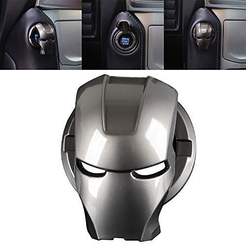 Pulsador De Arranque del Motor del Coche Universal Botón De La Cubierta del Interruptor Cubierta Protectora Encendido Iron Man 3D Anime Carácter Car Cubierta Protectora Antirrayas