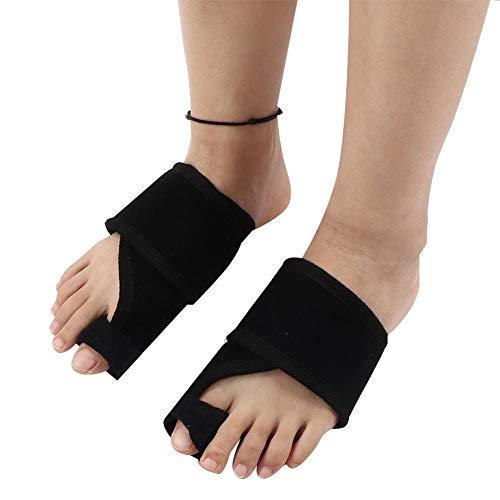 Bunion Corrector Attelles 2 paires de redresseur Hallux Valgus gros orteil soulagement correct du pied apaiser le protecteur de la douleur pour l'alignement des orteils tordus pour les femmes (Noir)