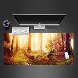 NZTCRFP Alfombrilla De Ratón Gran Tamaño 800X300MM Zorro Animal del Bosque Mouse Pad Gaming XL - Precisión Y Velocidad En Juegos - Antideslizante - Superficie Tejido - para Ratón Y Teclado