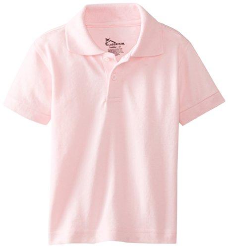 Classroom Little Boys' Toddler Short Sleeve Pique Polo, Pink, 4T