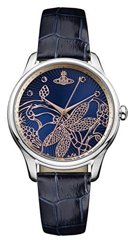 Vivienne Westwood Reloj Analógico para Mujer de Cuarzo con Correa en Cuero VV197NVNV