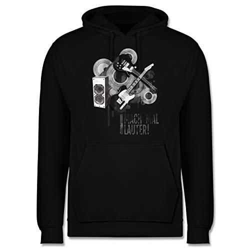 Shirtracer Statement - Mach mal lauter! - XS - Schwarz - Sweatshirt Gitarre - JH001 - Herren Hoodie und Kapuzenpullover für Männer