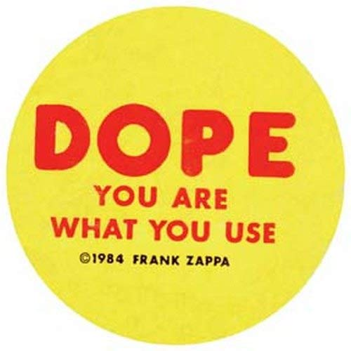 Dope You Are What You Use Frank Zappa 1984 Decal Retro Vintage Decal Sticker Souvenir Skateboard Laptop