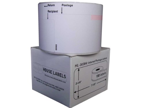 DYMO-Compatible 30383 3-Part Internet Postage Labels (2-1/4