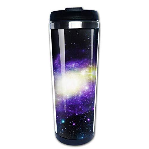Galaxy Deep Space Universe Stars Nebula Coffee Travel Mug Tazas de café con tapas Taza de acero inoxidable para hombres Mujeres