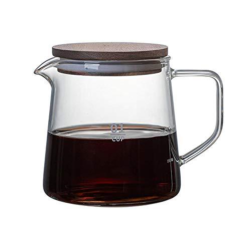 didatecar Glaskaraffe Kaffeekanne Glas Glaskrug Hitzebeständiger Glaskrug Mit Deckel Teekanne Glas Kaffeekanne Für Kaffee Heißen Tee