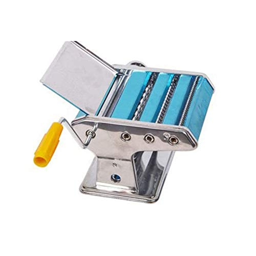 HEMFV Machine à Pâtes Pasta Maker Machine - Construction en Acier Robuste W Easy Lock Dial et poignée Manuelle Pétrin en appuyant sur la Machine Multi-Fonction sertisseuse Main Ustensile de Cuisine
