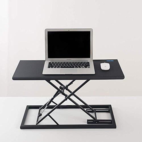 MANS Klapptisch Laptop Tischständer Laptop-Computer Stehtisch Hubtisch Mobil Folding Verstellbare Arbeits Einfache Moderne Wohnaccessoires,Schwarz