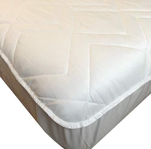 El Almacen del Colchon - CUBRECOLCHON Impermeable, Modelo Velfont. Cama 150cm - Todas Las Medidas, Blanco