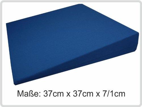 Sani-Alt Keilkissen Kissen Sitzkissen Sitzkeilkissen Sitzkissen Sitzkeil mit 100% Baumwollbezug! *Top-Qualität zum Top-Preis* (blau)
