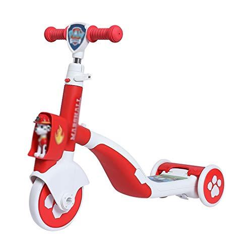 Patinete Adultos, 3 Ruedas Scooter eléctrico, Adecuado for niños niños y niñas,...