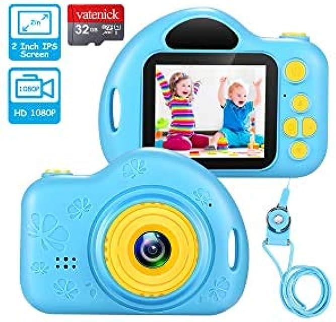 Cámara Digital para Niños Niño Juguete Juguete Regalos Cámara De Vídeo A Prueba De Choques Pantalla HD de 2 Pulgadas 1080P Regalos Tarjeta TF de 32GB Juguete para Niños y Niñas de 3 a 12 Años.