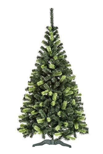 Urhome Sztuczne drzewko bożonarodzeniowe ze stojakiem – 120 cm wysokości choinki Ø 75 cm drzewko dekoracyjne PCW choinka sztuczna choinka szybki montaż system składania jodła Daria drzewko na Boże Narodzenie
