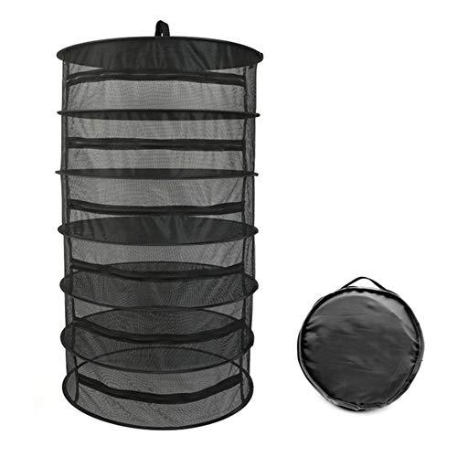 Winkels Opvouwbaar Zwart Gaas 6 Vloer Droogkorf, Makkelijk mee te nemen, met Ritssluitingen, Kan worden gebruikt voor het ophangen van kleding, Kruid, Geschikt voor Thuis, Buitengebruik
