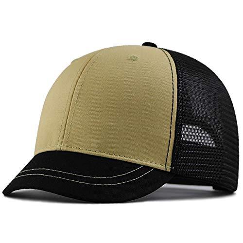 ZHANGCHI Gorra De Beisbol Red De Protección Solar Causando Sombreros Corta con...