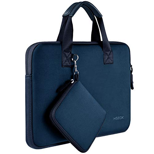 Hseok 13 13,3 13,5 Pulgadas Maletín Impermeable de Neopreno Elástico con Bolsillo para Accesorios, Compatible con MacBook Air Pro 13
