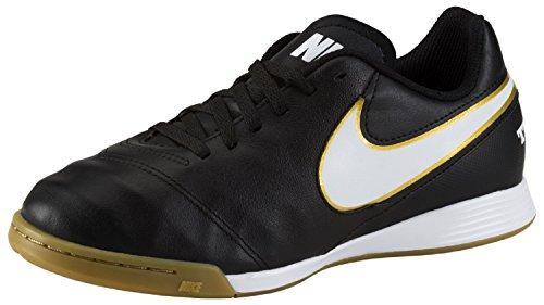 Nike Tiempo Legend VI IC Jr Unisex-Kinder Fußballschuhe, Schwarz (Schwarz/Weiß/Gold), 35.5 EU