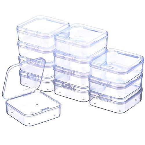 Wakerda 1 Pcs Caja de almacenamiento de pl/ástico ajustable para pastillas Caja organizadora de cuentas con 15 compartimentos de rejillas
